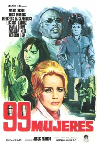 L'affiche espagnole de 99 Mujeres. Crédit : http://wrongsideoftheart.com/